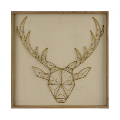 Geometric Deer Head Shadowbox