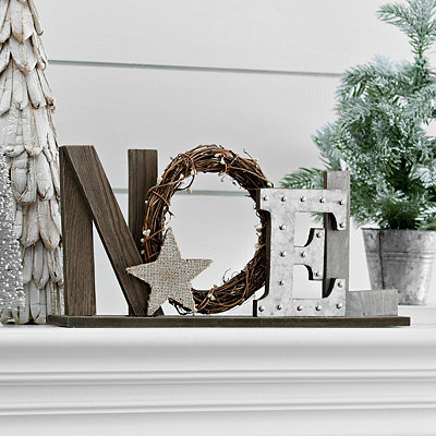 Wooden Noel Tabletop Sign