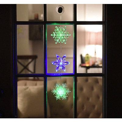 Acrylic LED Glitter Snowflake Chain