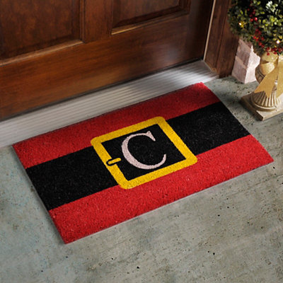Monogram C Santa Belt Doormat