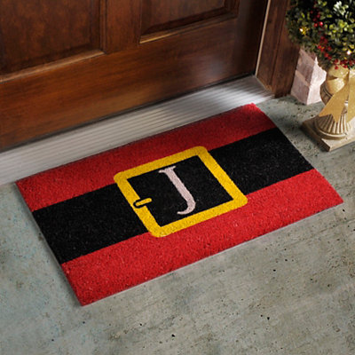 Monogram J Santa Belt Doormat
