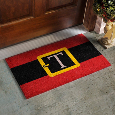 Monogram T Santa Belt Doormat
