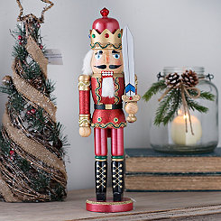 Red Bejeweled Nutcracker Statue