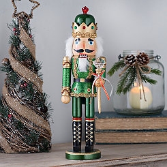 Green Bejeweled Nutcracker Statue