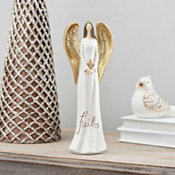 Golden Winged Faith Angel Statue