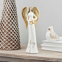 Golden Winged Joy Angel Statue