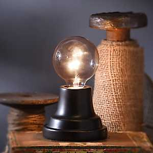 Single Edison Bulb Black Uplight