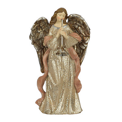 Pink Musical Christmas Angel