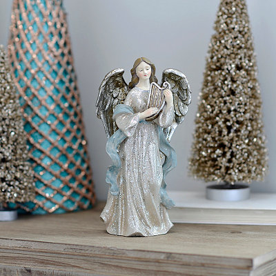 Blue Musical Christmas Angel