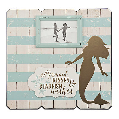 Wood Plank Mermaid Frame, 4x6