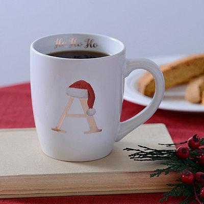 Santa Hat Monogram A Mug