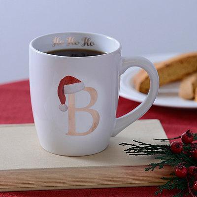 Santa Hat Monogram B Mug