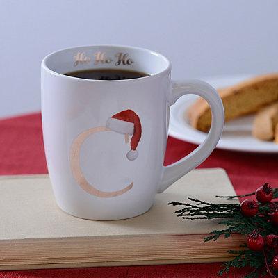 Santa Hat Monogram C Mug