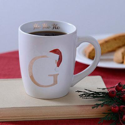 Santa Hat Monogram G Mug