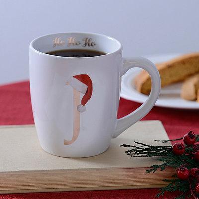 Santa Hat Monogram J Mug