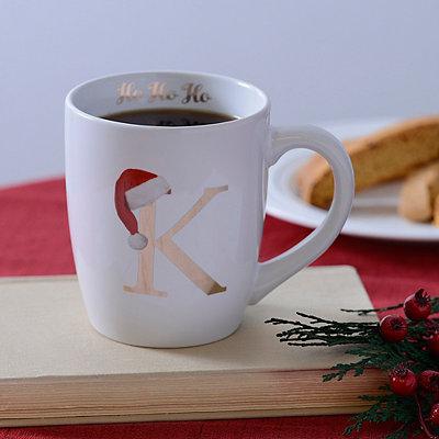 Santa Hat Monogram K Mug