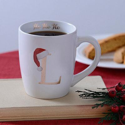 Santa Hat Monogram L Mug