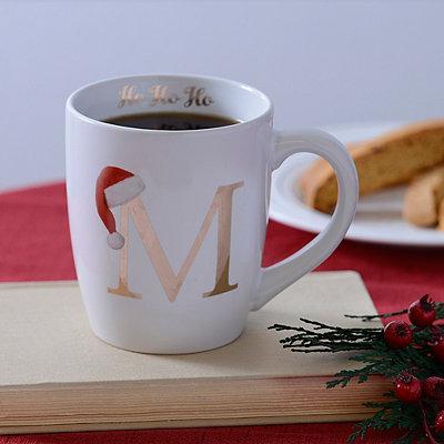 Santa Hat Monogram M Mug