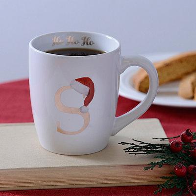 Santa Hat Monogram S Mug