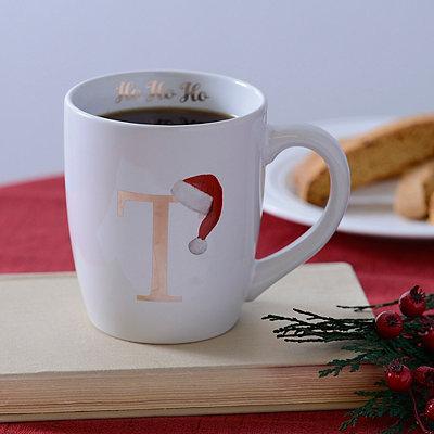 Santa Hat Monogram T Mug