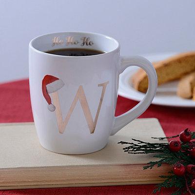Santa Hat Monogram W Mug