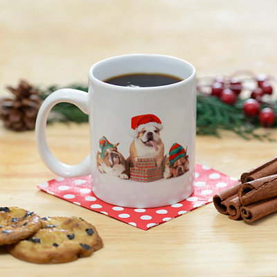 Christmas Bulldog Mug