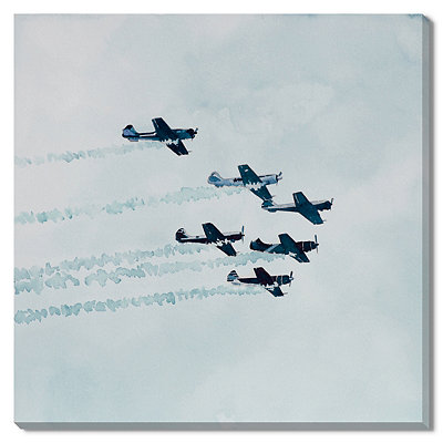 Blue Aerobatic Formation Canvas Gallery Wrap