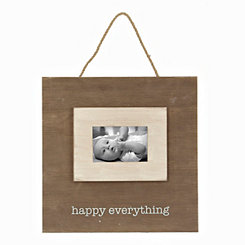Happy Everything Plank Picture Frame, 4x6