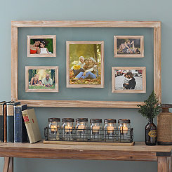 Natural Wood Floating Glass Collage Frame