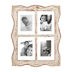 Distressed Ellie Windowpane Collage Frame