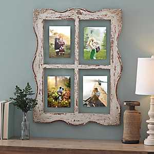 Distressed Ellie Windowpane Collage Frame