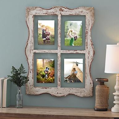 distressed ellie windowpane collage frame - Window Collage Frame