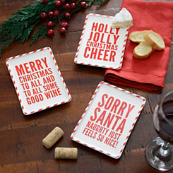 Christmas Sentiment Tidibit Trays, Set of 3