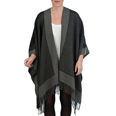 Black Reversible Ruana Wrap