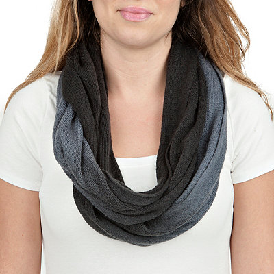 Black Ombre Loop Scarf