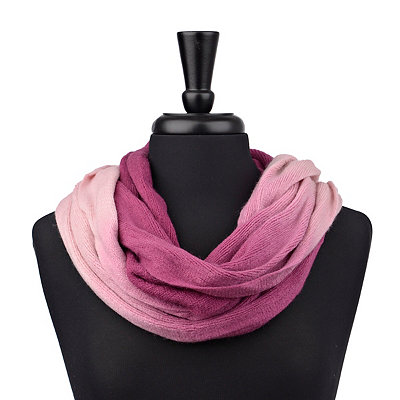 Pink Ombre Loop Scarf