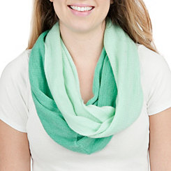 Turquoise Ombre Loop Scarf