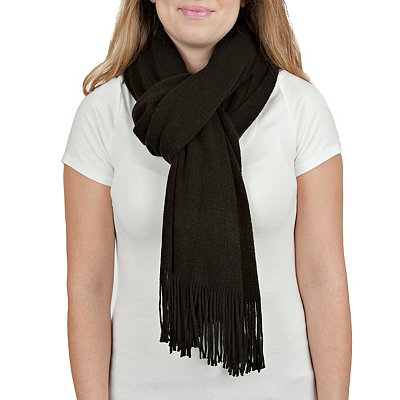 Black Cashmere-Feel Scarf