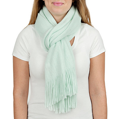 Mint Cashmere-Feel Scarf