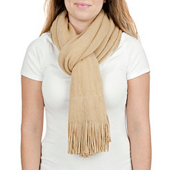 Tan Cashmere-Feel Scarf