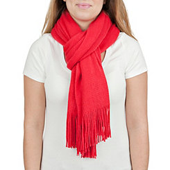 Red Cashmere-Feel Scarf