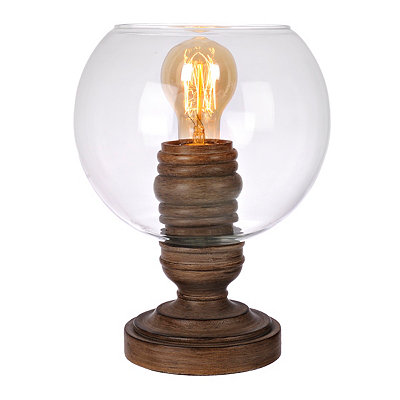 Clear Bowl Edison Bulb Uplight