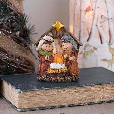 Pre-Lit Nativity Figurine