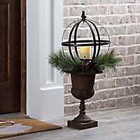 Pre-Lit Decorative Goblet Urn