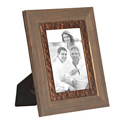 Wooden Embossed Copper Picture Frame, 5x7