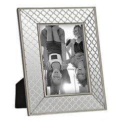 Silver Quatrefoil Charm Picture Frame, 5x7