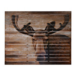 Rustic Moose Wooden Wall Art