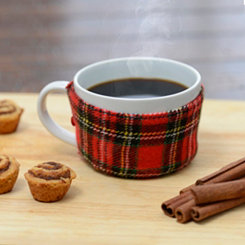 Red Plaid Christmas Sweater Mug