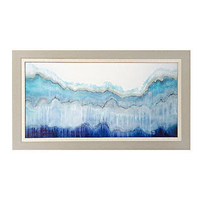 Shades of Blue Framed Art Print
