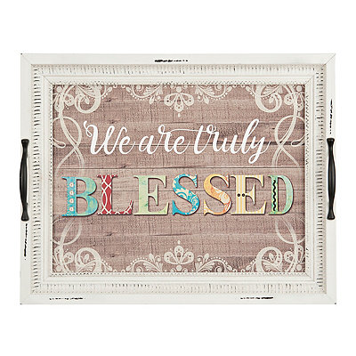 Truly Blessed Decorative Tray